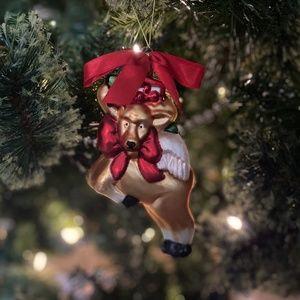 NWT Lenox Flying Deer Glass Ornament 🦌🎁🎄